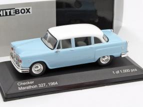 Checker Marathon 327 Baujahr 1964 hellblau / weiß 1:43 WhiteBox