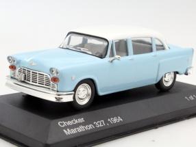 Checker Marathon 327 year 1964 light blue / white 1:43 WhiteBox
