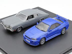 Fast and Furious 2-Car set Chevrolet Chevelle SS and Nissan Skyline GT-R 1:43 Greenlight