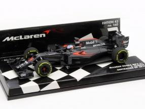Fernando Alonso McLaren MP4-31 #14 Australien GP Formel 1 2016 1:43 Minichamps