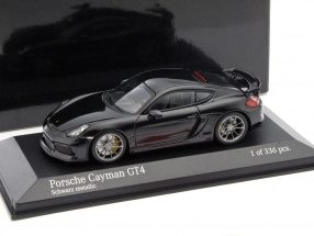 Porsche Cayman GT4 Baujahr 2016 schwarzmetallic 1:43 Minichamps