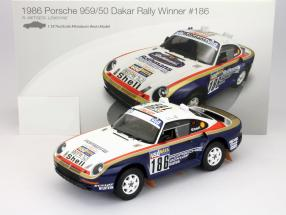Porsche 959/50 #186 Winner Dakar Rallye 1986 Metgei, Lemoyne 1:18 TrueScale