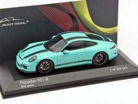 Porsche 911 (991) R Baujahr 2016 mint grün 1:43 Minichamps