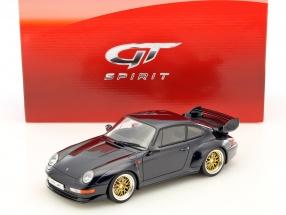 Porsche 911 (993) GT Baujahr 1995 dunkelblau 1:18 GT-SPIRIT