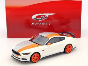 Ford Mustang Bojix Design Baujahr 2015 weiß / orange 1:18 GT-SPIRIT