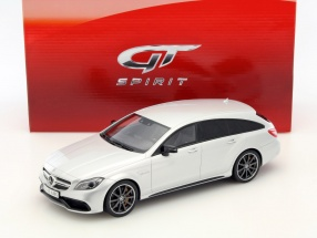 Mercedes-Benz CLS 63 AMG Shooting Brake Baujahr 2014 silber 1:18 GT-SPIRIT
