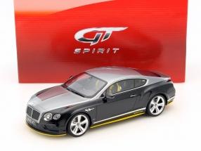Bentley Continental GT Speed Breitling Baujahr 2015 silber / schwarz 1:18 GT-SPIRIT
