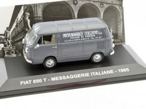 Fiat 850T Messaggerie Italiene Baujahr 1965 grau 1:43 Altaya
