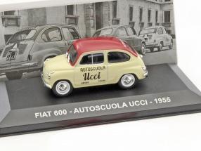 Fiat 600 Autoscuola Ucci Baujahr 1955 beige / rot 1:43 Altaya
