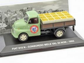 Fiat 615N Consorzio Mele val di non Baujahr 1953 grün 1:43 Altaya