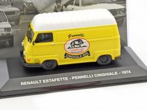 Renault Estafette Pennelli Cinghiale Baujahr 1974 gelb / weiß 1:43 Altaya