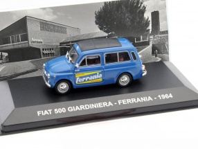 Fiat 500 Giardiniera Ferrania Baujahr 1964 blau 1:43 Altaya