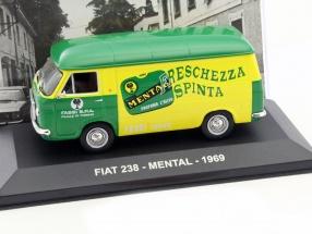 Fiat 238 Mental Baujahr 1969 gelb / grün 1:43 Altaya