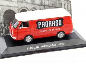 Fiat 238 Proraso Baujahr 1973 rot / weiß 1:43 Altaya