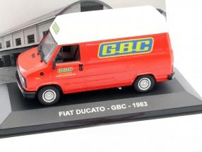 Fiat Ducato GBC Baujahr 1983 rot / weiß 1:43 Altaya
