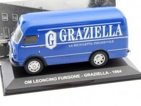 OM Leoncino Furgone Graziella Baujahr 1964 blau 1:43 Altaya