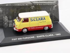Fiat 600 Furgone Santa Clara Baujahr 1962 gelb / rot 1:43 Altaya