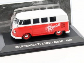 Volkswagen VW T1 Kombi Bus Ringo Baujahr 1967 weiß / rot 1:43 Altaya