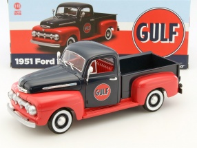 Ford F1 Pick-Up Baujahr 1951 Gulf dunkelblau / rot 1:18 Greenlight