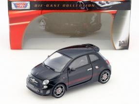 Fiat Abarth 500 schwarz 1:24 MotorMax