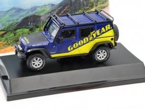 Jeep Wrangler Unlimited GoodYear Baujahr 2016 blau / gelb 1:43 Greenlight