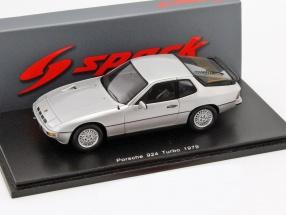Porsche 924 Turbo year 1979 silver 1:43 Spark
