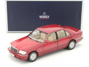 Mercedes-Benz S500 Baujahr 1997 rot metallic 1:18 Norev