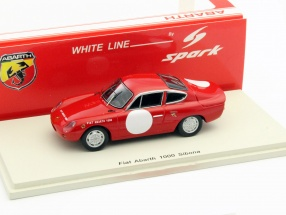 Fiat Abarth 1000 Sibona red / white 1:43 Spark