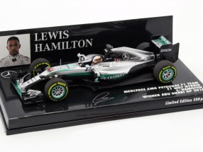 L. Hamilton Mercedes F1 W07 Hybrid #44 Winner Abu Dhabi GP F1 2016 1:43 Minichamps