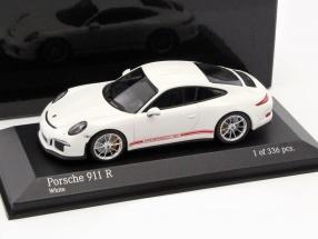 Porsche 911 (991) R Baujahr 2016 weiß 1:43 Minichamps