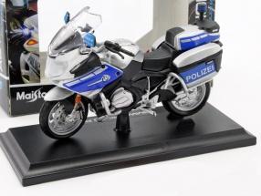 BMW R 1200 RT Polizei silber / blau 1:18 Maisto