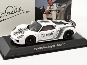 Porsche 918 Spyder #70 Walter Röhrl Edition zum 70. Geburtstag weiß 1:43 Spark