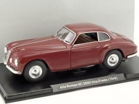 Alfa Romeo 6C 2500 Villa D'este Baujahr 1949 bordeaux 1:24 Leo Models