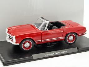 Mercedes-Benz 230 SL Baujahr 1965 rot 1:24 Leo Models