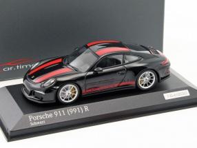 Porsche 911 (991) R schwarz / rot 1:43 Minichamps