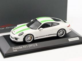 Porsche 911 (991) R weiß / grün 1:43 Minichamps