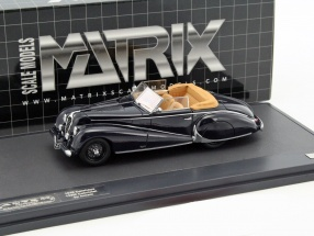 Delahaye 135M Antem Convertible year 1949 dark blue 1:43 Matrix