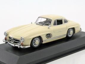 Mercedes-Benz 300 SL Coupe year 1955 cream 1:43 Minichamps