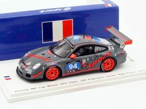 Porsche 997 GT3 Cup #94 Winner SPX 24h Paul Ricard 2016 Spark Motorsport 1:43 Spark