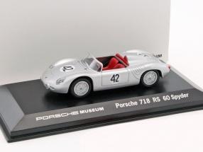 Porsche 718 RS 60 Spyder #42 Winner 12h Sebring 1960 Herrmann, Gendebien 1:43 Welly