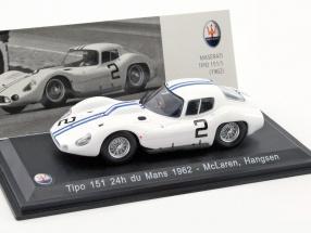 Maserati Tipo 151 #2 24h LeMans 1962 McLaren, Hansgen 1:43 Leo Models