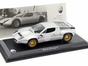Maserati Bora Group 4 Baujahr 1973 silber 1:43 Leo Models