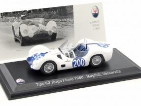 Maserati Tipo 60 #200 Targa Florio 1960 Maglioli, Vaccarella 1:43 Leo Models