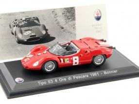 Maserati Tipo 63 #8 4 Ore di Pescara 1961 Bonnier 1:43 Leo Models