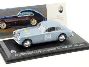 Maserati A6 Pininfarina #84 Rallye Automobilistico del Cinema 1957 Pola, Croci 1:43 Leo Models