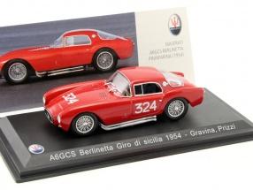 Maserati A6GCS Berlinetta #324 Giro di Sicilia 1954 Gravina, Prizzi 1:43 Leo Models