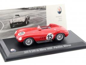 Maserati 300 S #15 24h LeMans 1955 Mieres, Perdisa 1:43 Leo Models