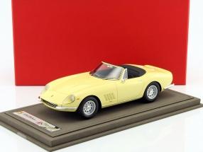 Ferrari 275 GTB/4 Spider gelb mit Vitrine 1:18 BBR