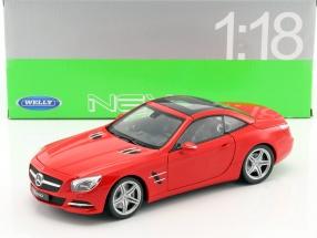 Mercedes-Benz SL 500 Baujahr 2012 rot 1:18 Welly
