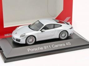 Porsche 911 (991) Carrera 4S silber 1:43 Herpa